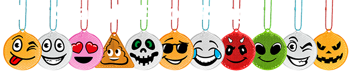 Emoji Character Reflectors For Promotions and Retail
