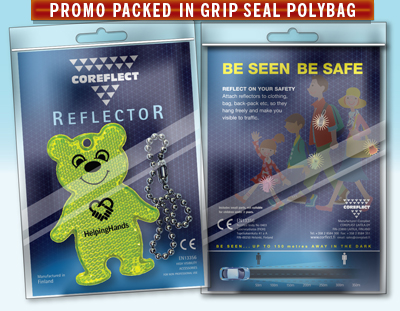 Scanglo Promo Packed Reflectors in PolyBag